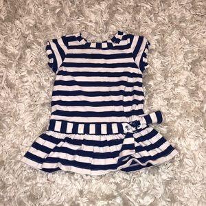 Jacadi Blue and White Striped Dress Child size 2A